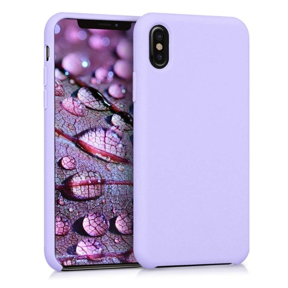 merkury Accessories - Merkury pastel purple iPhone XS MAX silicone case